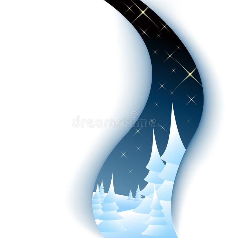 рождественские елки карточки бесплатная иллюстрация