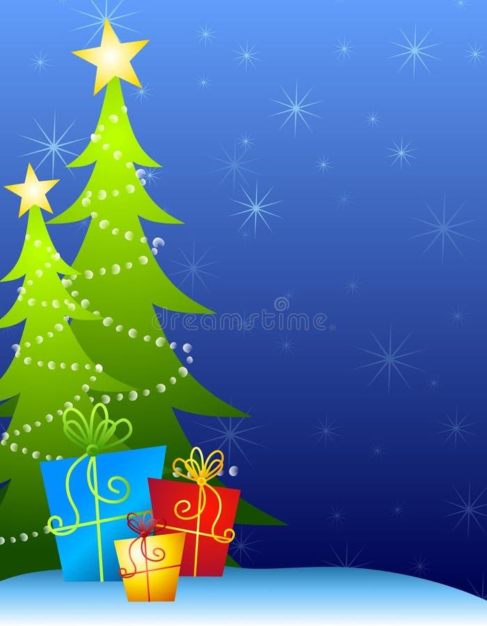 рождественские елки предпосылки иллюстрация вектора