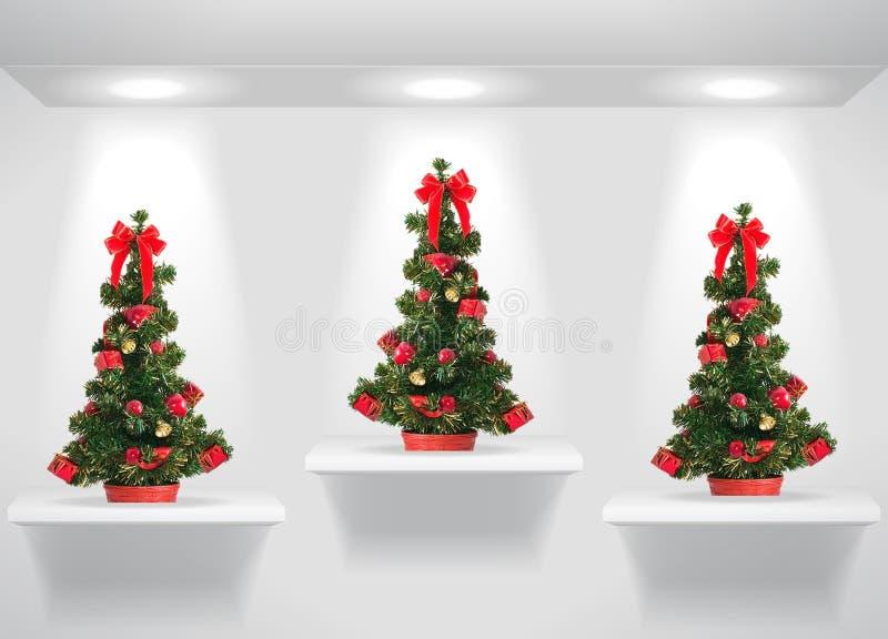 рождественские елки иллюстрация вектора