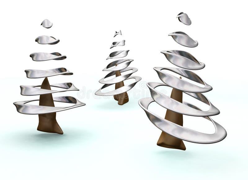 рождественские елки 3d бесплатная иллюстрация