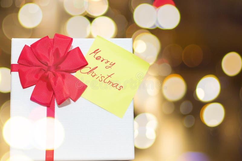 Рождественские открытки подарочной коробки и стоковое изображение rf
