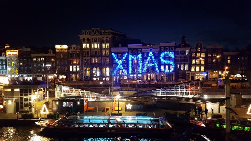Рождественское украшение в Амстердаме стоковая фотография
