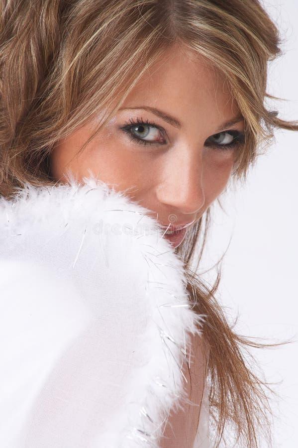 рождество ангела застенчивое стоковое изображение rf