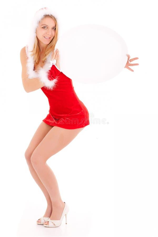 рождество афиши показывая женщину стоковые фотографии rf