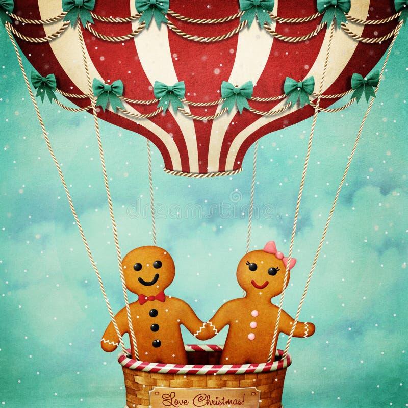 Рождество воздушного шара иллюстрация штока