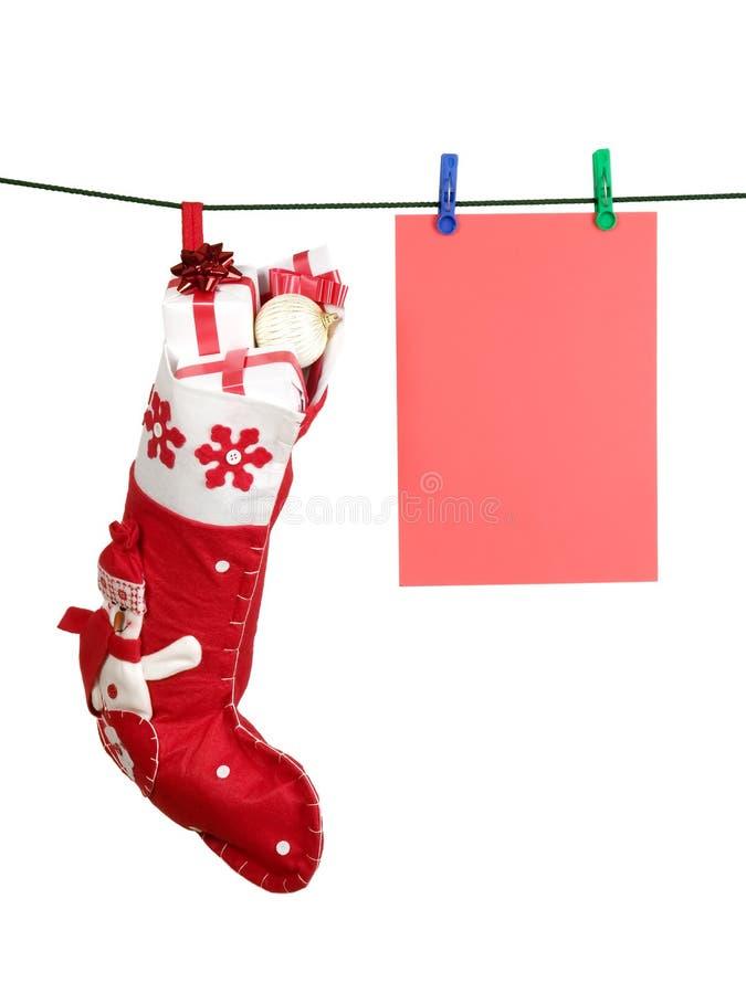 рождество вполне представляет чулок стоковые фото