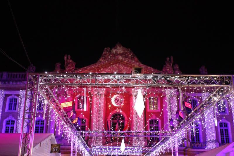 Рождество в капитолии Тулуза стоковые фотографии rf