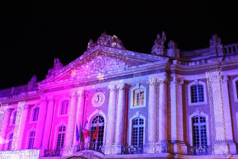 Рождество в капитолии Тулуза стоковая фотография