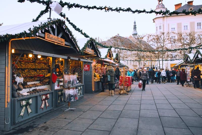 Рождество в Клагенфурте, Австрии, Европе стоковые фото