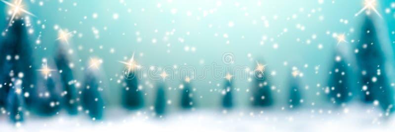 Рождество в лесе иллюстрация вектора