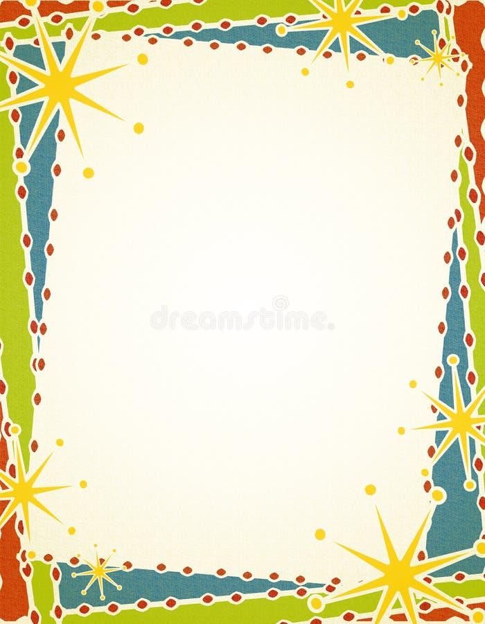 Download рождество граници ретро иллюстрация штока. иллюстрации насчитывающей звезда - 6855504