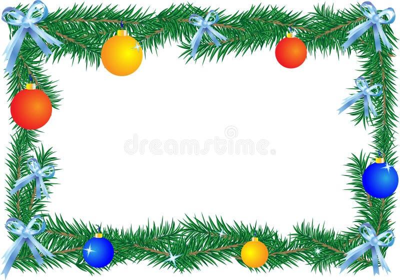 рождество граници иллюстрация вектора