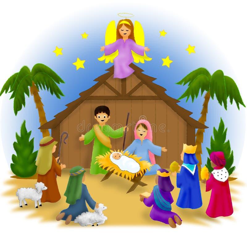 рождество детей иллюстрация вектора