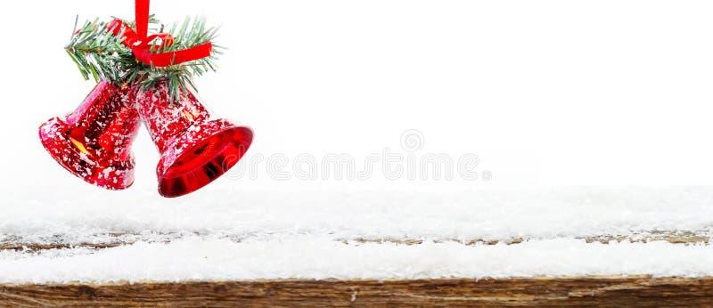 Рождество звенеть колоколов, изолированная рождественская открытка, стоковые изображения