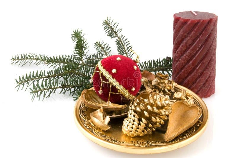 Download рождество золотистое стоковое фото. изображение насчитывающей свечка - 6862292