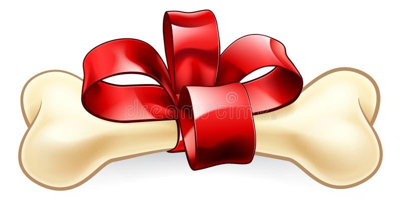Рождество или подарок на день рождения косточки собак бесплатная иллюстрация