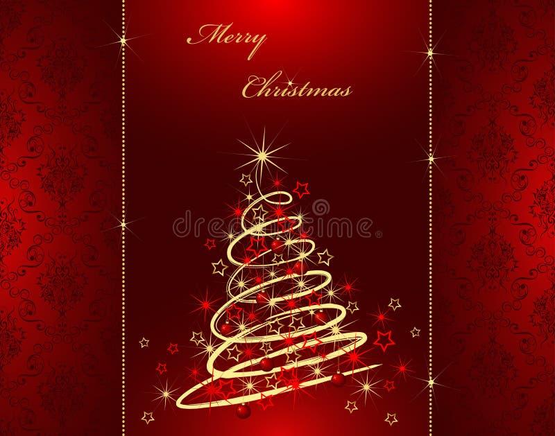 рождество карточки веселое иллюстрация вектора