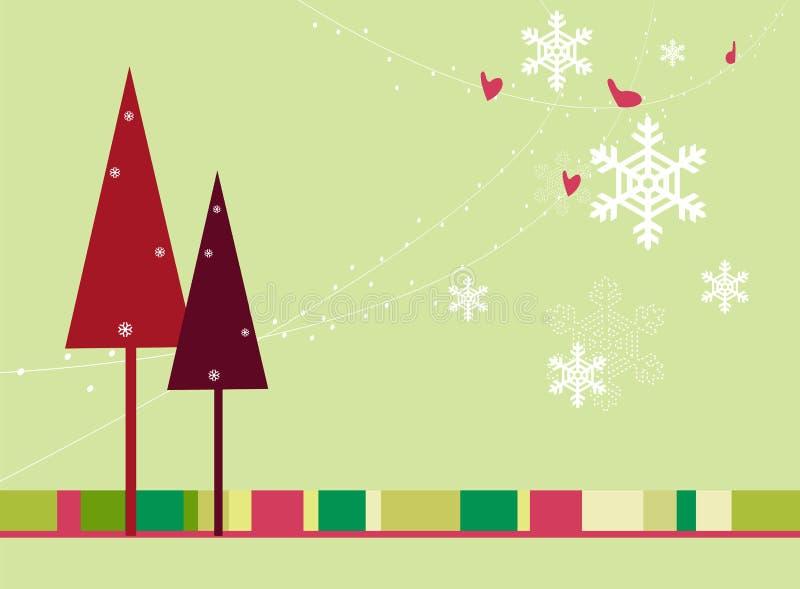 рождество карточки ретро бесплатная иллюстрация