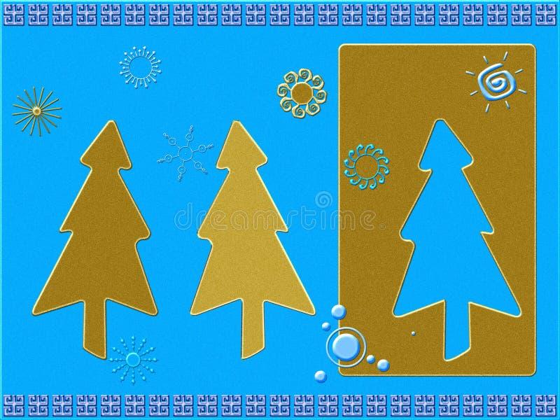 рождество карточки стилизованное иллюстрация штока