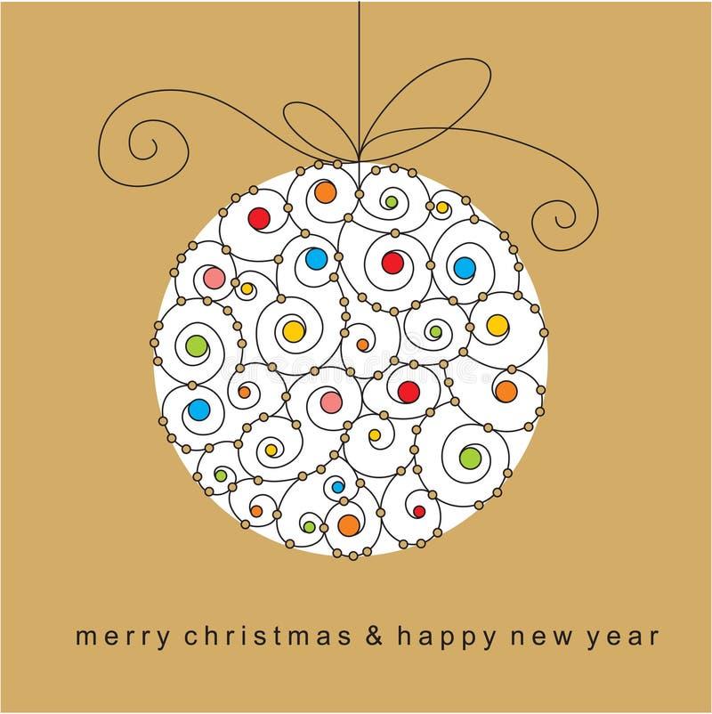 рождество карточки шарика бесплатная иллюстрация