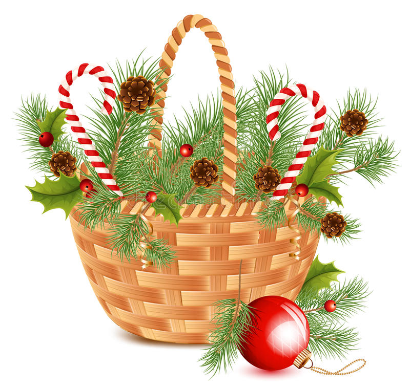 рождество корзины иллюстрация вектора