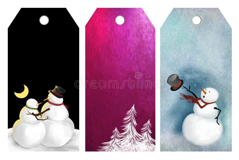 рождество маркирует зиму иллюстрация вектора