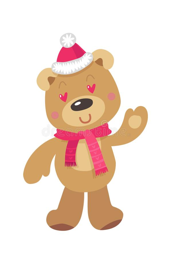 рождество медведя милое белизна вектора акулы иллюстрации предпосылки иллюстрация вектора