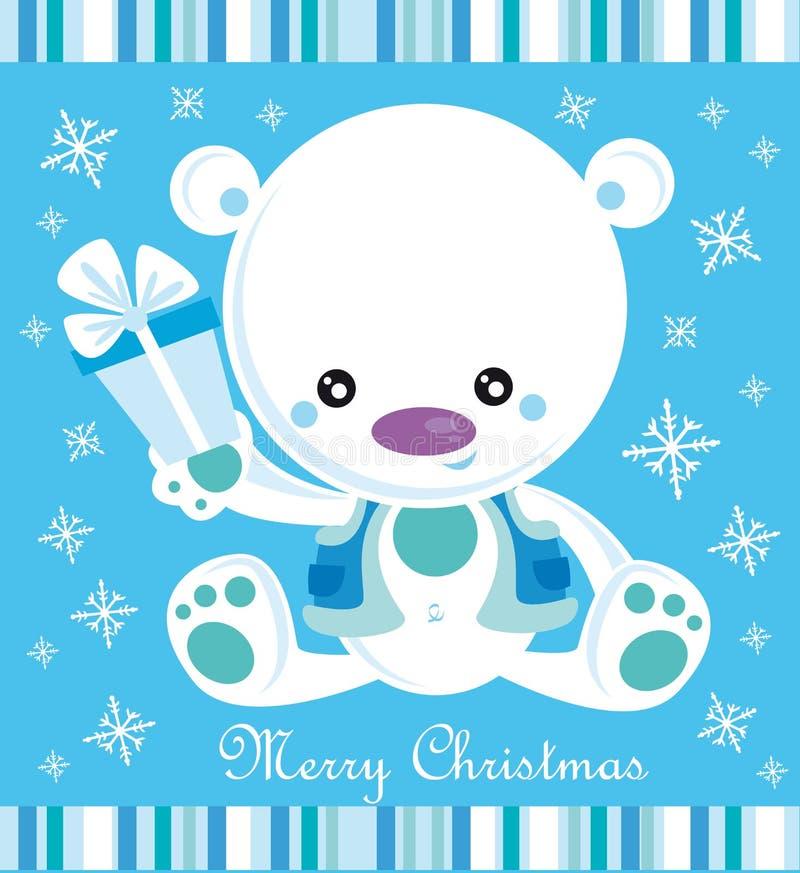 рождество медведя иллюстрация штока