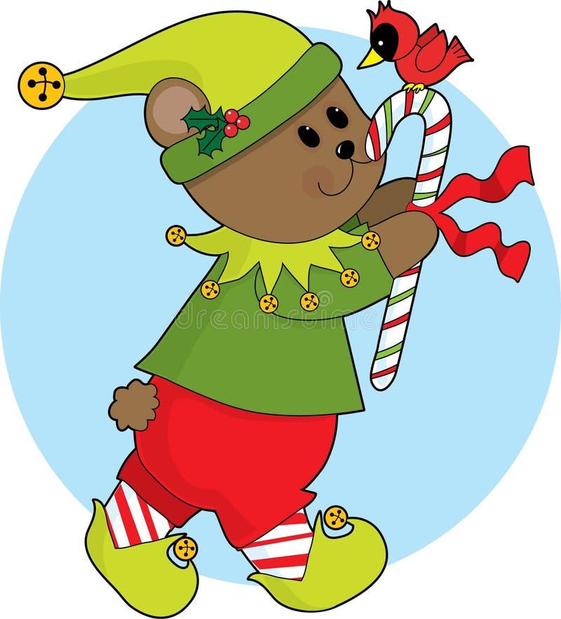рождество медведя иллюстрация вектора