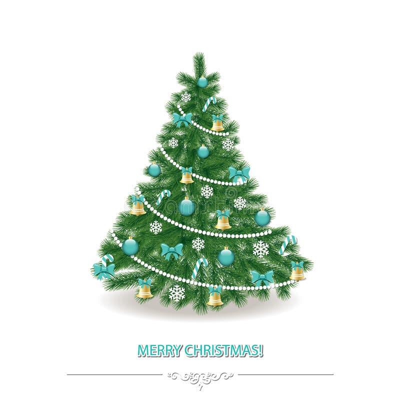 рождество моя версия вектора вала портфолио Традиционно украшенный реалистическо бесплатная иллюстрация