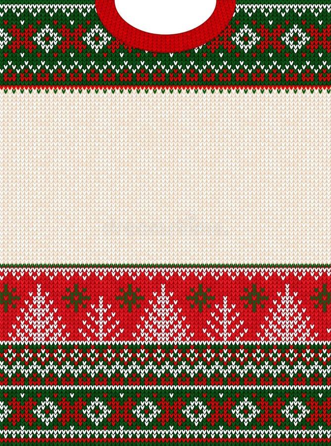 Рождество некрасивого свитера веселое С Новым Годом! рамка поздравительной открытки стоковое фото rf