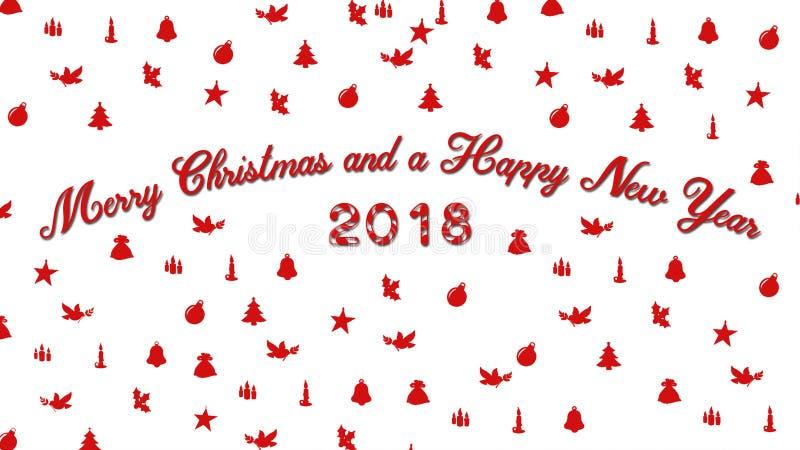 Рождество 2018 Новых Годов стоковое изображение rf