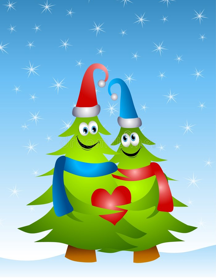рождество обнимая валы влюбленности бесплатная иллюстрация