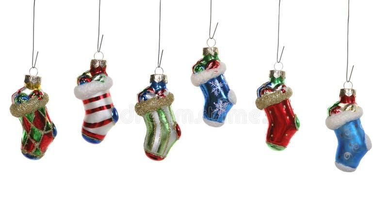 рождество орнаментирует чулок стоковое фото
