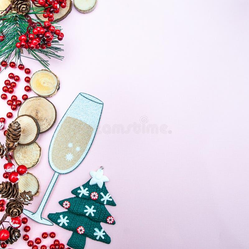 Рождество, предпосылка Нового Года с космосом для текста стоковое изображение