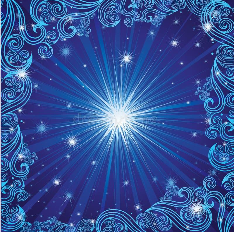 рождество предпосылки голубое играет главные роли вектор бесплатная иллюстрация