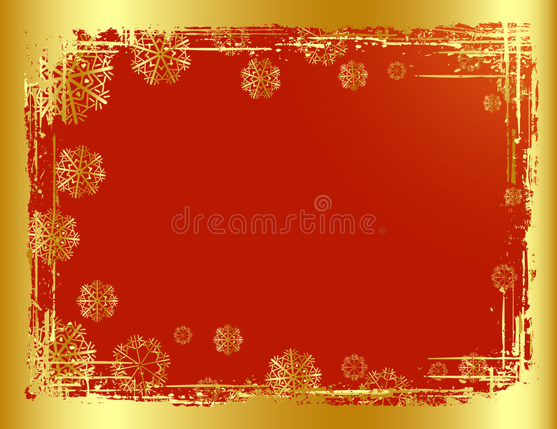 рождество предпосылки золотистое иллюстрация вектора