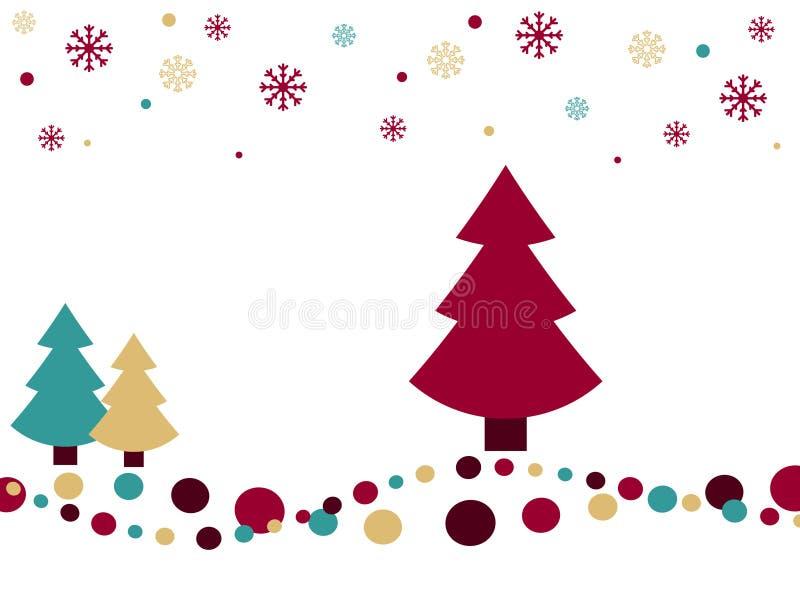 рождество предпосылки ретро иллюстрация вектора