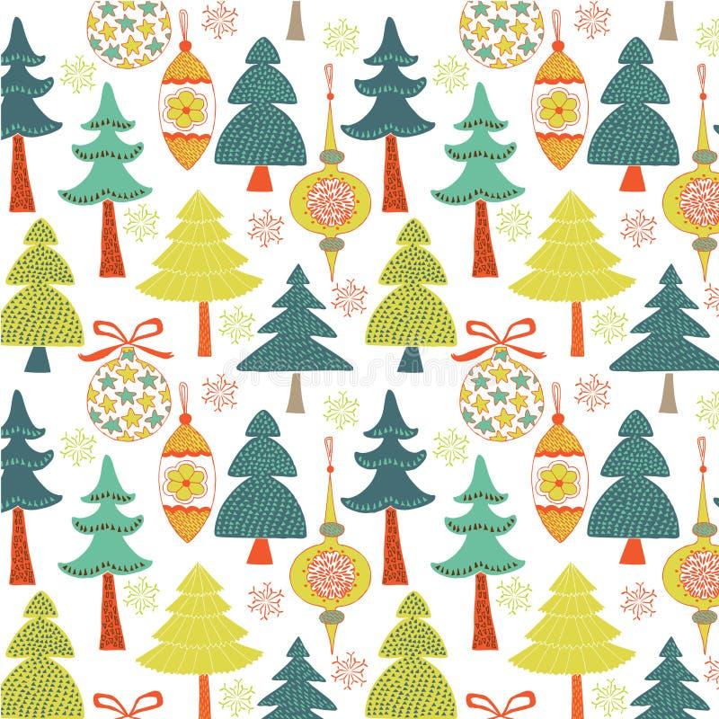 рождество предпосылки иллюстрация вектора