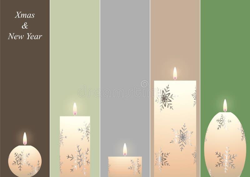 рождество свечек bookmarks иллюстрация штока