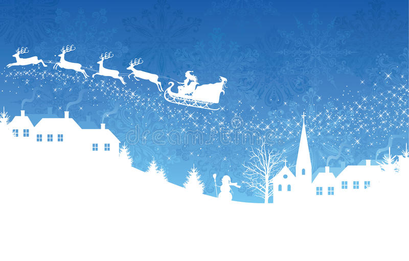 рождество сини предпосылки бесплатная иллюстрация