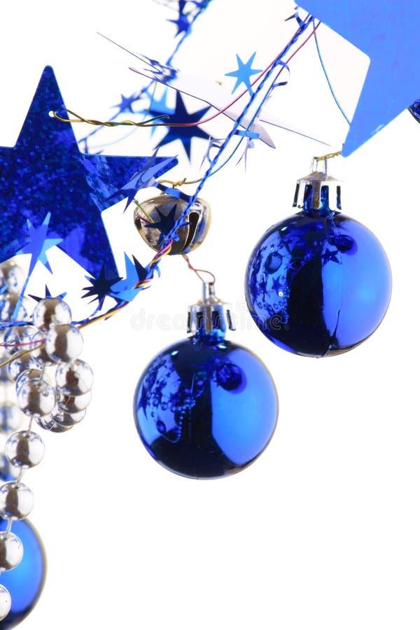 рождество сини шариков стоковое изображение rf