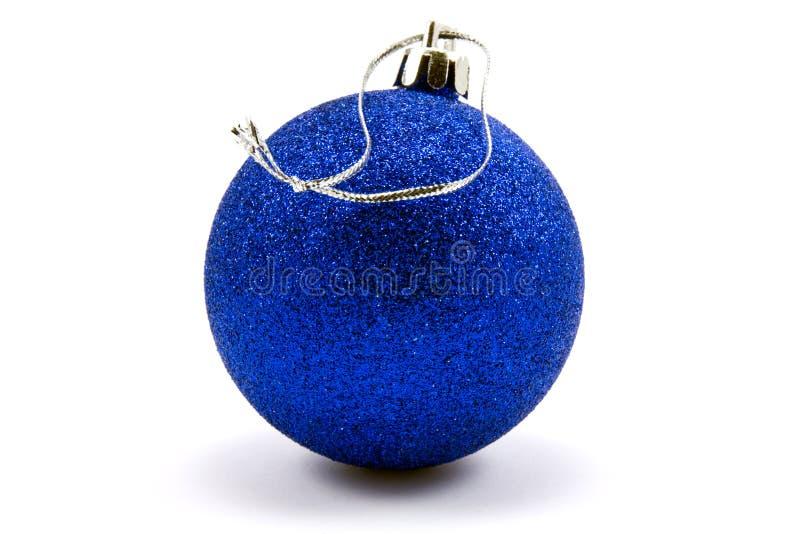 рождество сини bauble стоковое фото