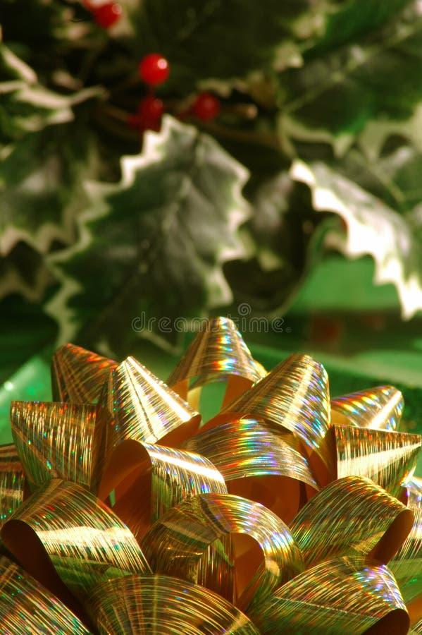 рождество смычка стоковая фотография