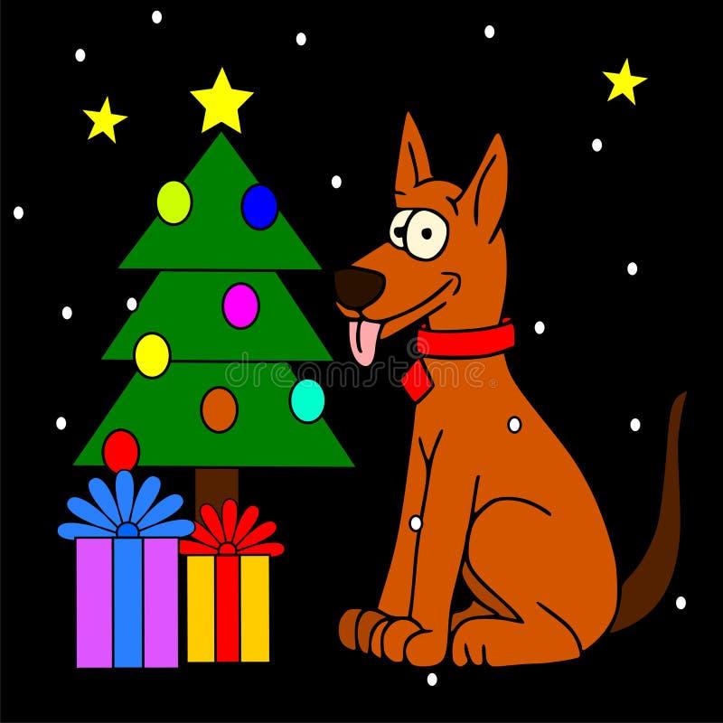 Рождество собаки иллюстрация вектора