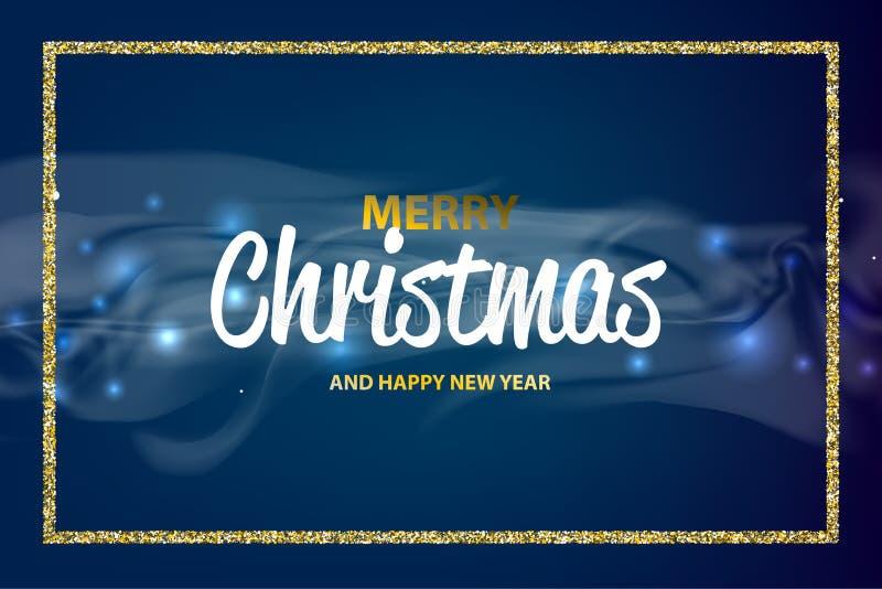 Рождество счастливое bokeh Нового Года иллюстрация штока
