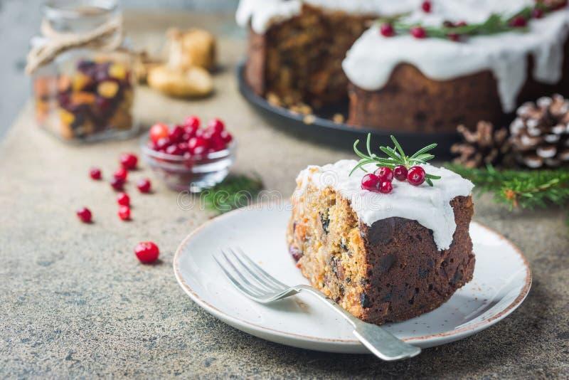 рождество торта традиционное стоковые фото
