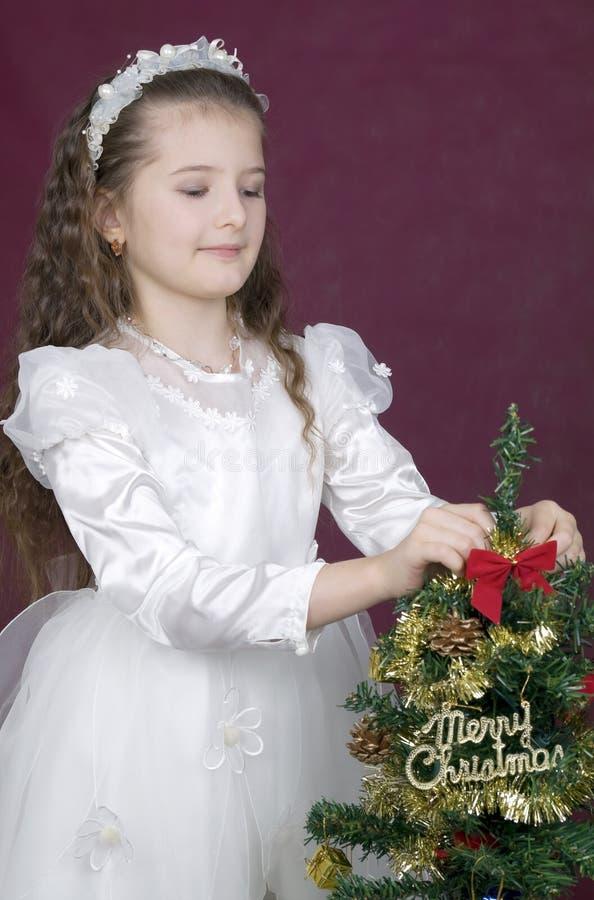 рождество украшает вал девушки веселый стоковые изображения