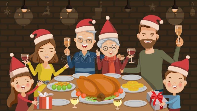 рождество украшает идеи обеда свежие домашние к иллюстрация вектора