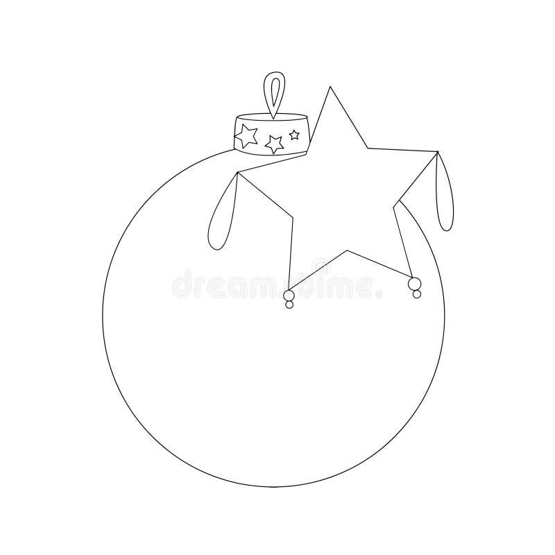 рождество украшает идеи украшения свежие домашние к Игрушка рождественской елки иллюстрация штока